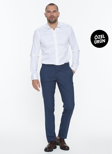 Beymen Business Slim Fit Saten Gömlek 4B2000000111 Beyaz